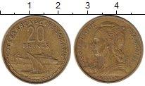 Изображение Монеты Сомали 20 франков 1965 Латунь XF