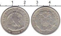 Изображение Монеты Чили 20 сентаво 1866 Серебро VF