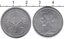 Изображение Монеты Сомали 1 франк 1959 Алюминий UNC-