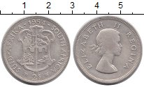 Изображение Монеты ЮАР 2 шиллинга 1954 Серебро VF