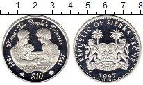 Изображение Монеты Сьерра-Леоне 10 долларов 1997 Серебро Proof-