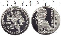 Изображение Монеты Нидерланды 25 экю 1998 Серебро Proof