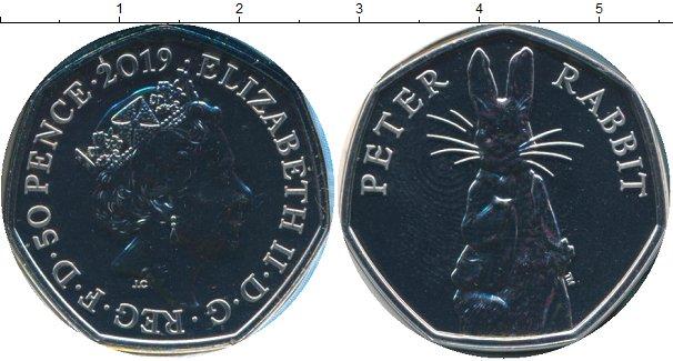 Картинка Подарочные монеты Великобритания 50 пенсов Медно-никель 2019