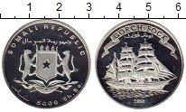 Изображение Монеты Сомали 5000 шиллингов 1998 Серебро Proof-