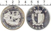 Изображение Монеты Мальта 5 лир 1993 Серебро Proof-