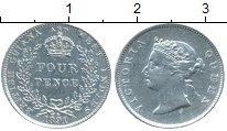 Изображение Монеты Великобритания Британская Гвиана 4 пенса 1891 Серебро XF
