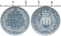 Изображение Монеты Сан-Марино 1 лира 1906 Серебро XF