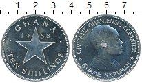 Изображение Монеты Гана 10 шиллингов 1958 Серебро Proof-