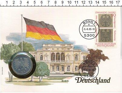 Изображение Монеты ФРГ 5 марок 1975 Медно-никель UNC- F.<br>Оригинальный