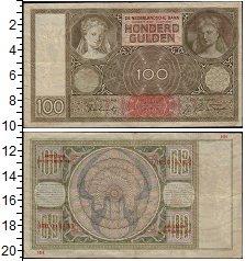 Изображение Банкноты Нидерланды 100 гульденов 1942  VF