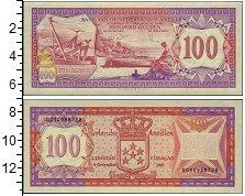 Изображение Банкноты Нидерланды Антильские острова 100 гульденов 1981  UNC
