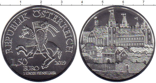 Картинка Мелочь Австрия 1 1/2 евро Серебро 2019