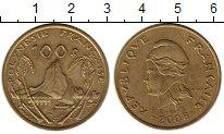 Изображение Монеты Франция Полинезия 100 франков 2008 Латунь XF