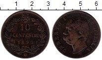 Изображение Монеты Италия 10 сентесим 1893 Бронза XF-