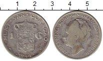 Изображение Монеты Нидерланды Кюрасао 1 гульден 1944 Серебро VF