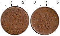 Изображение Монеты Чехия 10 крон 2000 Бронза XF