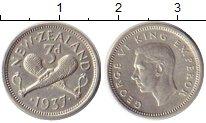 Изображение Монеты Новая Зеландия 3 пенса 1937 Серебро XF