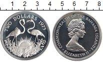 Изображение Монеты Багамские острова 2 доллара 1973 Серебро Proof-