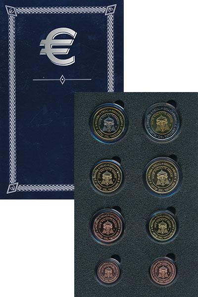 Изображение Подарочные монеты Ватикан Евро проба 2008 2008  UNC Набор фантазийных ев