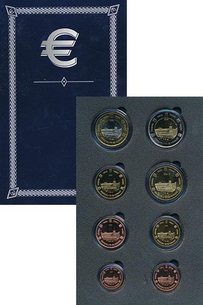 Изображение Подарочные монеты Монако Евро проба 2005 2005  UNC Набор фантазийных ев