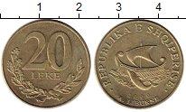 Изображение Монеты Албания 20 лек 2000 Латунь XF