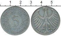 Изображение Монеты Германия ФРГ 5 марок 1951 Серебро VF
