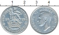 Изображение Монеты Великобритания 1 шиллинг 1938 Серебро XF-
