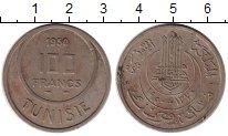 Изображение Монеты Тунис 100 франков 1950 Медно-никель VF
