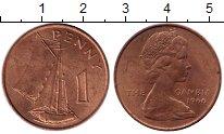 Изображение Монеты Гамбия 1 пенни 1966 Бронза XF