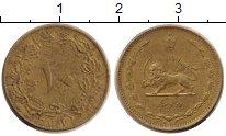 Монета Иран 10 динар Латунь 1938 XF
