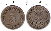 Изображение Монеты Германия 5 пфеннигов 1900 Медно-никель VF