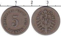 Изображение Монеты Германия 5 пфеннигов 1875 Медно-никель VF