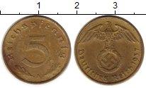 Изображение Монеты Германия Третий Рейх 5 пфеннигов 1937 Латунь UNC-