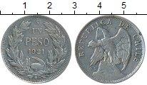 Изображение Монеты Чили 1 песо 1921 Серебро VF