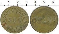 Изображение Монеты Португалия Мадейра 500 рейс 0 Латунь XF