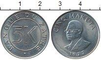 Изображение Монеты Конго Заир 5 макута 1977 Медно-никель UNC-