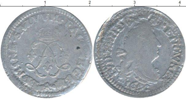 Картинка Монеты Франция 4 соля 2 денье Серебро 1691