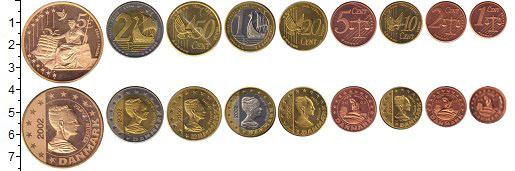 Изображение Наборы монет Дания Европроба 2002 2002  UNC- UNUSUAL, В наборе 9