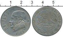 Изображение Дешевые монеты Мексика 1 песо 1981 Медно-никель VF+