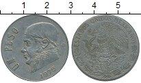 Изображение Дешевые монеты Мексика 1 песо 1975 Медно-никель VF+