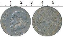 Изображение Дешевые монеты Мексика 1 песо 1971 Медно-никель VF+