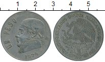 Изображение Дешевые монеты Мексика 1 песо 1974