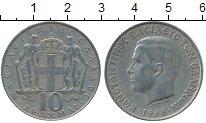 Изображение Дешевые монеты Греция 10 драхм 1968