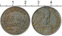 Изображение Дешевые монеты Франция 100 франков 1955