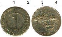 Изображение Дешевые монеты Словения 1 толар 1992