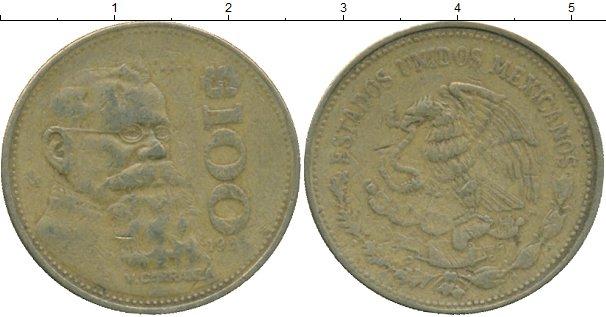 Картинка Дешевые монеты Мексика 100 песо  1985