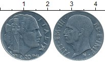 Изображение Дешевые монеты Италия 20 чентезимо 1942