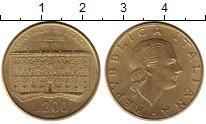 Изображение Монеты Италия 200 лир 1990 Латунь UNC-