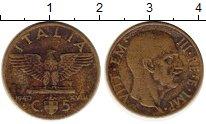 Изображение Монеты Италия 5 сентесим 1940 Латунь XF-