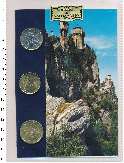 Изображение Подарочные монеты Сан-Марино Сувенирный набор 0  UNC В набор входят три м